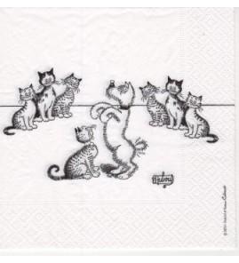 Serviette «chat dubout dressage de chiens»