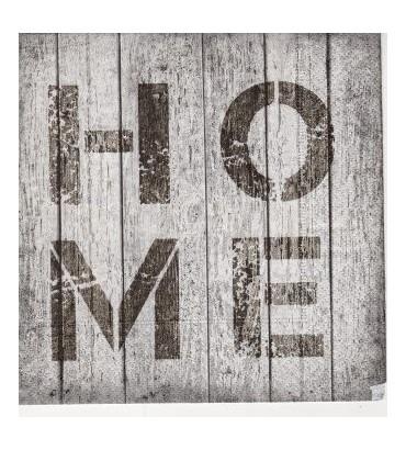 Serviette «home»