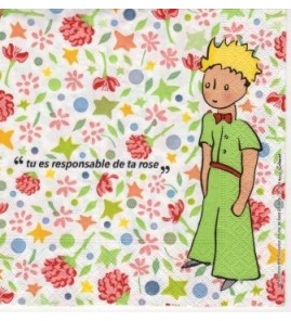 Serviette le petit prince tu es responsable de ta rose
