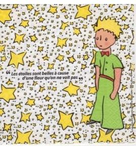 Serviette le petit prince  les étoiles sont belles..