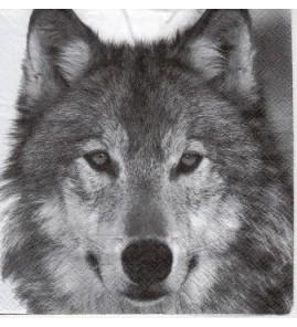 Serviette «loup»