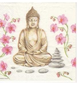 Serviette «bouddha»