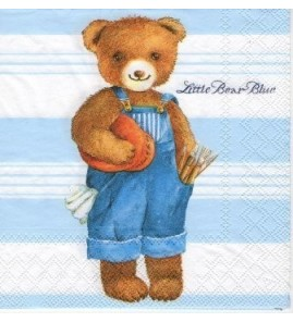 Serviette « little bear blue »