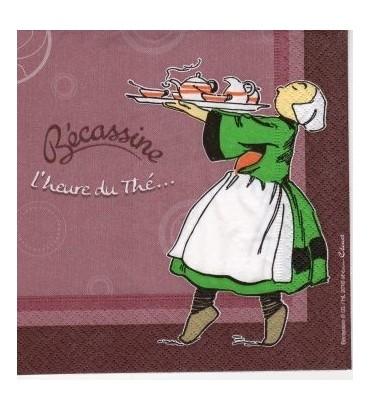 Serviette Bécassine l'heure du thé