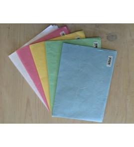Lot de 5 couleurs papiers japonais  (réf:00/11/43/50/63)
