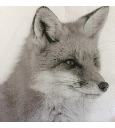 Serviette renard blanc