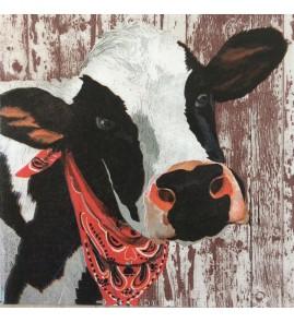 Serviette Henrietta vache bandana rouge