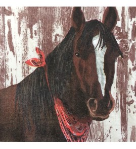 Serviette clyde cheval bandana rouge