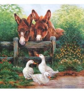 Serviette amis de la ferme