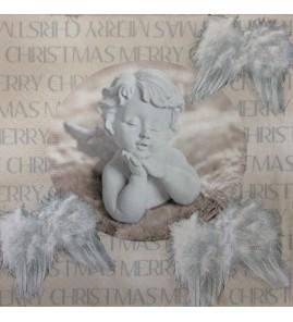Serviette ange blanc