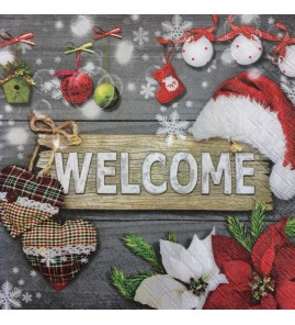 Serviette welcome noël