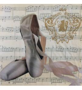 Serviette chaussons de danse