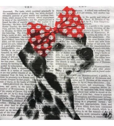Serviette «dalmatien écriture»