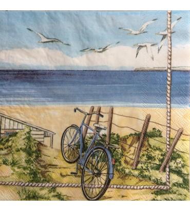 Serviette bicyclette océan