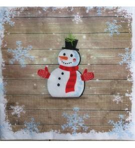 Serviette bonhomme de neige