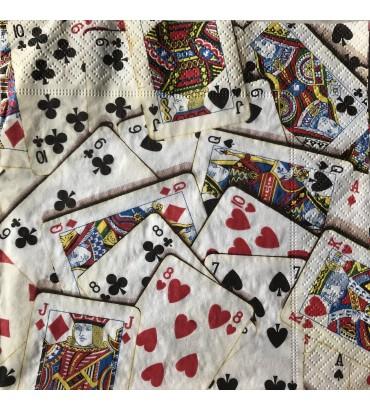 Serviette jeu de cartes
