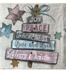 Serviette joy peace