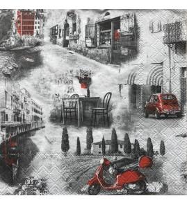 Serviette italian streets
