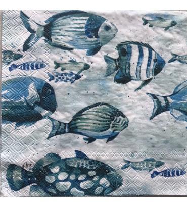 """Serviette aquaworld """"fish"""""""
