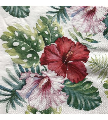 Serviette hibiscus