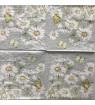Serviette daisy grey