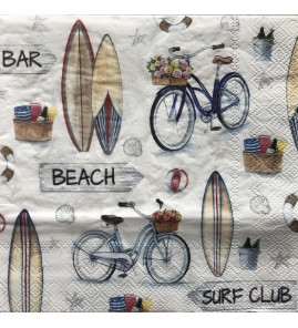 Serviette surf club