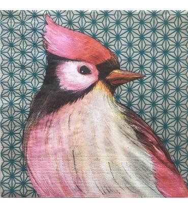 Serviette oiseau japonais Sophie Adde