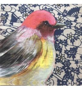 Serviette joli oiseau  Sophie Adde