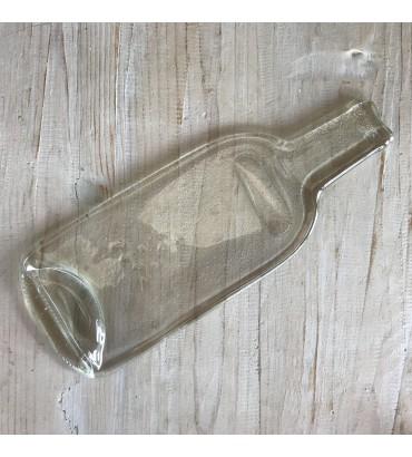 Bouteille de vin transparente fondue