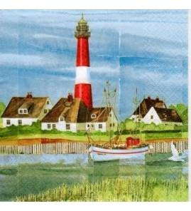 Serviette phare breton